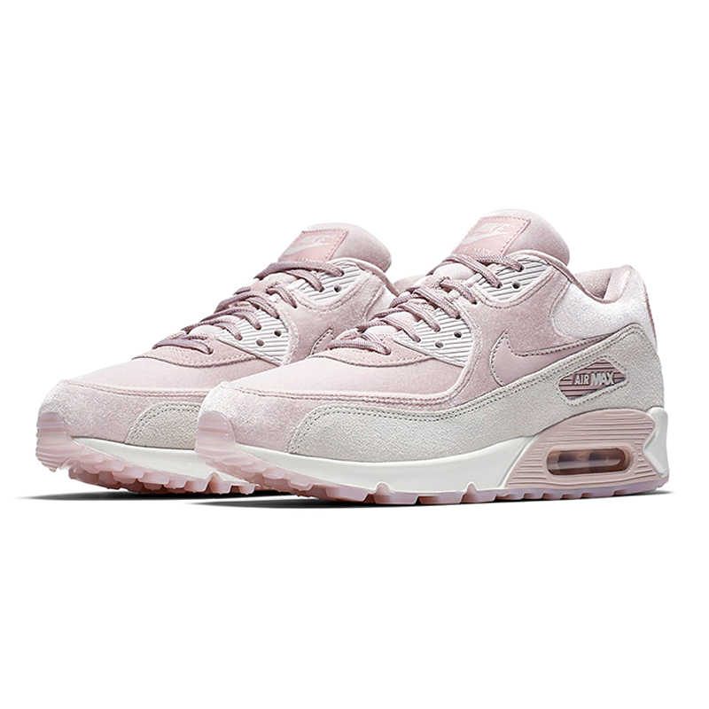 new concept 8c7ba e82a7 ... NIKE AIR MAX 90 LX Women s Running Shoes, Pink, Shock Resistant  Non-slip ...