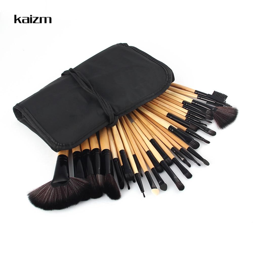 Kaizm 32Pcs Professional Makeup Brushes Foundation Eye Shadows Lipsticks Powder Make Up Brushes Tools Bag pincel maquiagem Kit