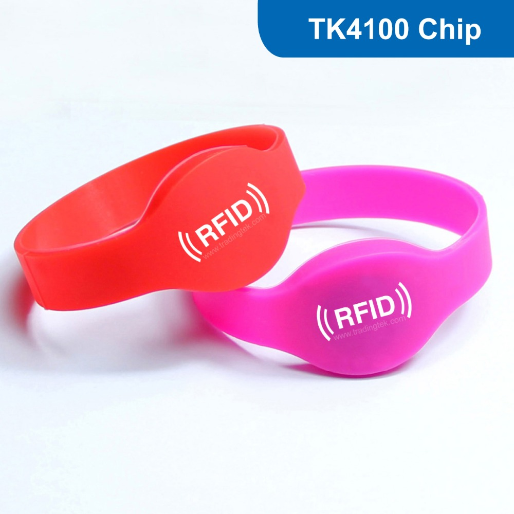 WB01 Silicone RFID Wristband RFID Bracelet Proximity Smart EM Card Frequency 125KHz for Access Control With TK4100 Chip купить