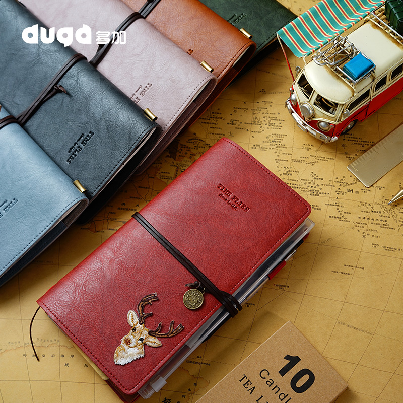 Vintage Notebook Mini Cowhide Cover Portable Notepad Retro Bandage Note Book Traveler Journey Daily Diary School Supply