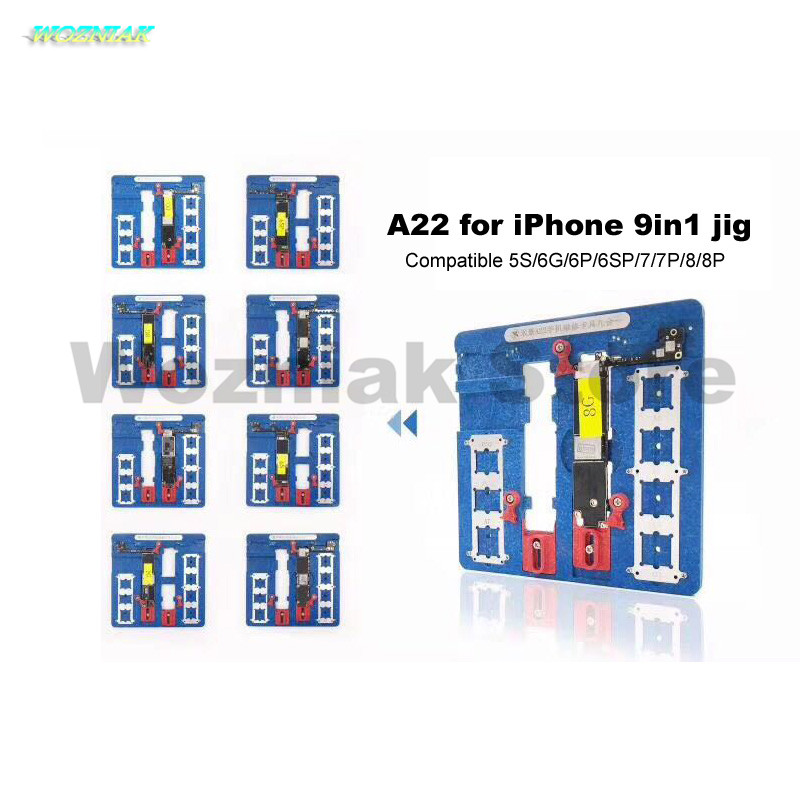 ozniak A22 thickening 9in1 Mobile Phone Motherboard Chip CPU Fixed Fixture for Iphone 5s/6g/6s/6p/6sp/7/7p/8/8p Remove Glue Jip