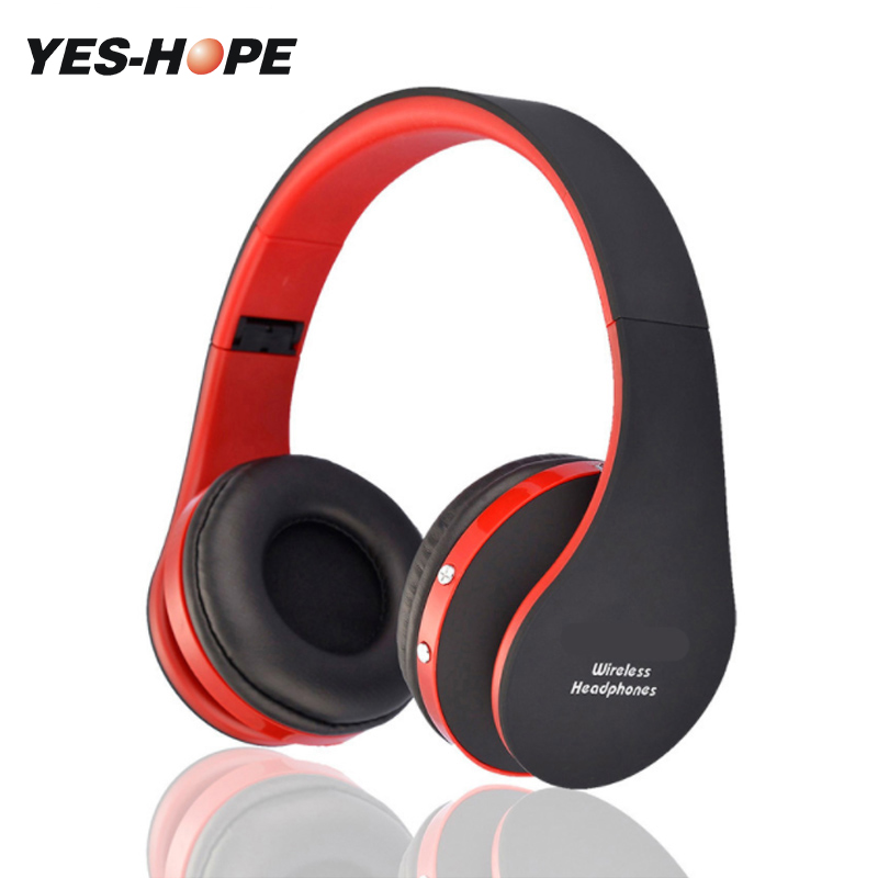 YES-HOPE Wireless Headphones Bluetooth Headset Stereo foldable Sport Earphone Microphone Gaming Cordless Auriculares Audifonos original xiaomi sport bluetooth earphone wireless sport stereo headphones with microphone ip6 waterproof bluetooth 4 1 headset