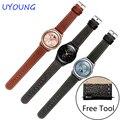 Para samsung gear s2 s3 20mm22mm correa de piel genuina para lg watch bandas calidad smart watch accesorios