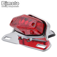New Motorcycle LED Turn Signal Brake Lights License Plate Integrated Taillight Universal 12V Red Color For