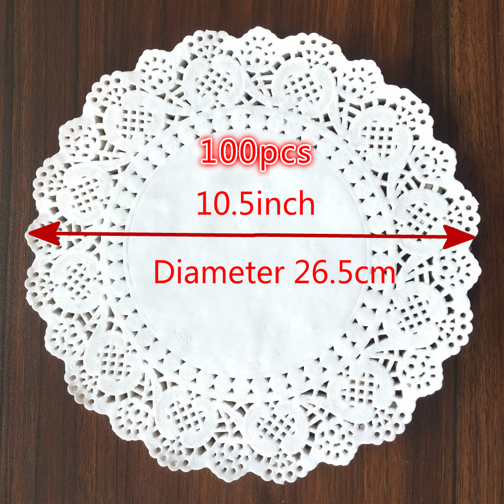 Lot de 150 napperons jetables en papier dentelle blanc absorbant lhuile d/écorative de table
