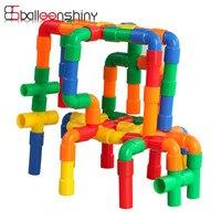 Tunnel Building Blocks Bricks Plastic Building Kits Colorful DIY Children Kid Intelligence Educational Assembling Toy Model