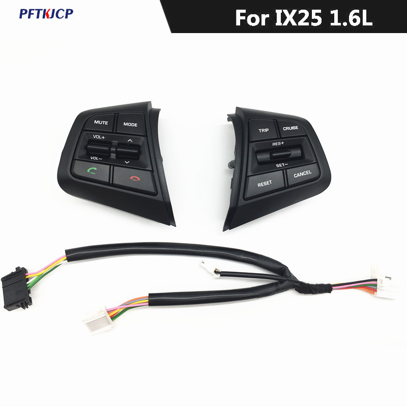 Factory price Steering Wheel Control Buttons Remote Cruise Control Bluetooth Button with Wire For Hyundai ix25 (creta) 1.6L 2.0L