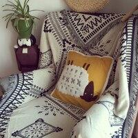 Pure cotton Retro nostalgia carpet thin blanket tie dye Ethnic Art blanket bed cover living room bedroom Felts tapestry