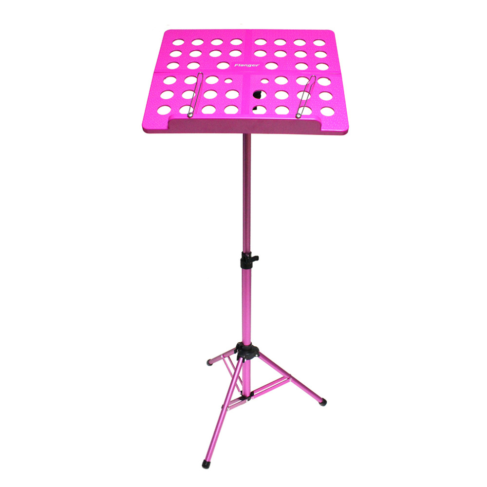 HOT-Flanger Folding Music Tripod Stand Holder Sheet Aluminum Alloy+ABS + Carrying Bag Musical Instruments colourful sheet folding music stand metal tripod stand holder with soft case with carrying bag free shipping wholesales
