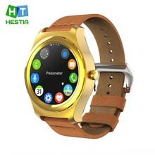HESTIA Neue Q2 Smartwatch MTK2502C Pulsmesser Bluetooth 4,0 Fitness Tracker Fernbedienung Call reminder Für Android iOS