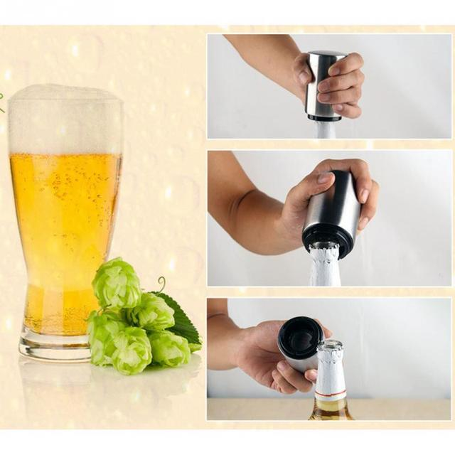 High Quality Bottle Opener Stainless Steel Automatic Beer Cap Wine Bar Waiter Kitchen Tools