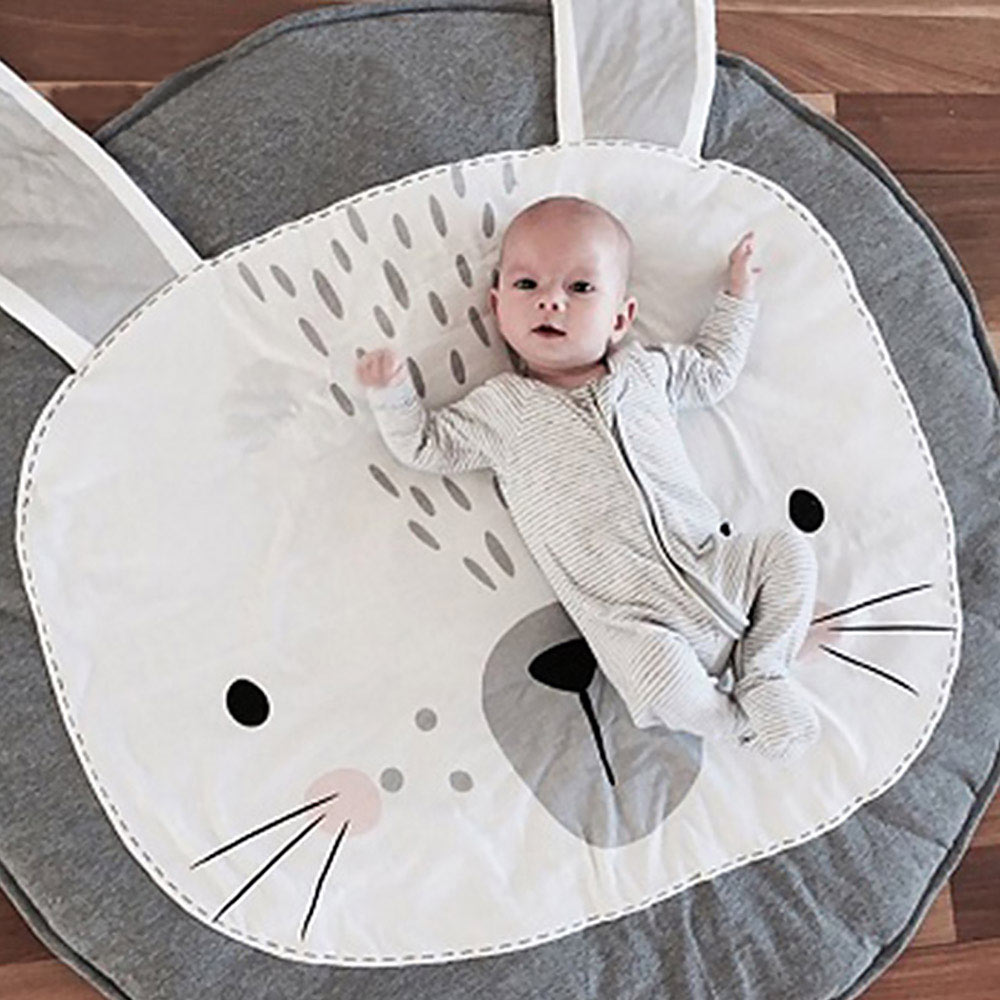 INS Baby Play Mat 90CM Kids Play Game Mats Soft Cotton Floor Carpet Crawling Blanket Pad Room Decoration Round Carpet Rugs Mats