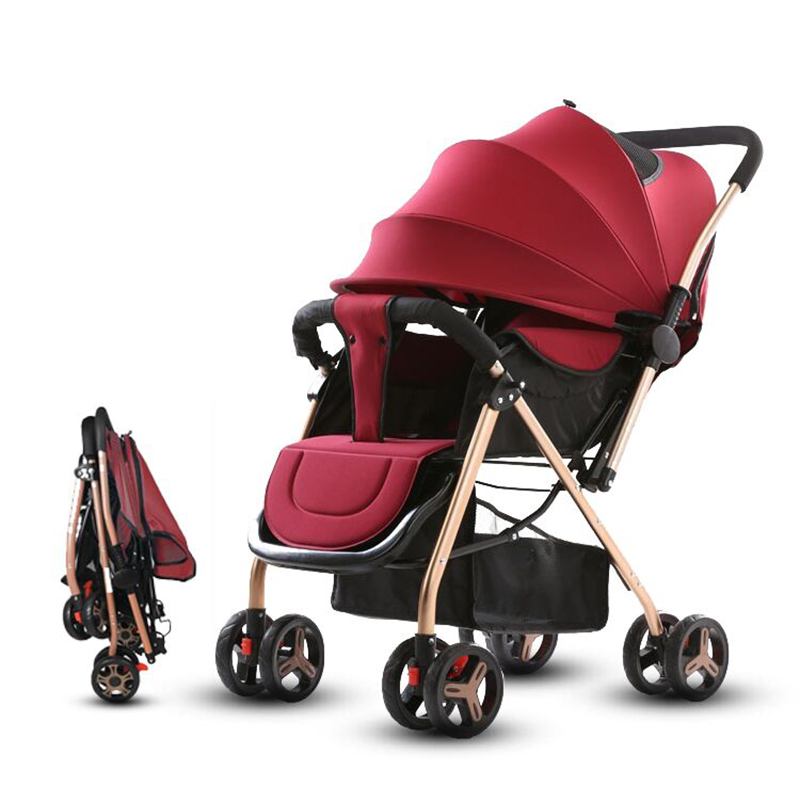 Two-way Push Baby Stroller Lightweight Baby Stroller Baby Stollers Foldable Pushchair  No Tax And Shipping From  EU Or CN