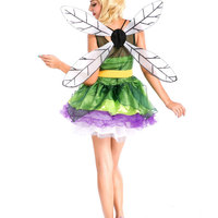 Sexy forest green fairy costume with wing ,alice in wonderland fairy cosplay costume in carnival day w1294
