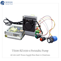 Chemical Micro Dosing Peristaltic Hose Pump Variable Flow Rate with Control Buttons and Voltage Adapter AV100 240V Plug and Play