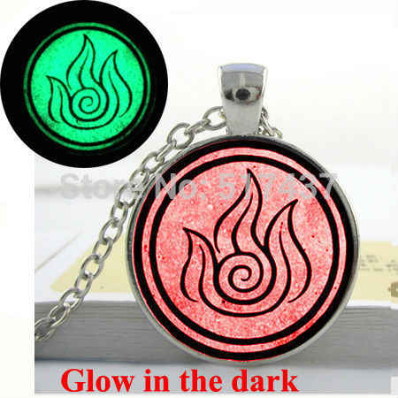 Glow in the dark Necklace Pendant  Avatar The Last Airbender - Fire Nation Necklace glowing jewelry