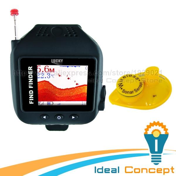 FF-518 LUCKY Watch Design Fish Finder 150ft Wireless Sonar Sensor Clock Mode Rechargeable 60m Fish Detector Watch эхолот скат два луча lucky ff 718 duo