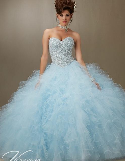 Céu do bule lquinceanera vestidos debutante sweet 16 vestidos de princesa coral do aqua branco vestido de baile online 15 anos vestido longo vestido