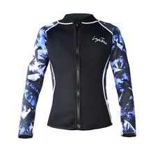 Brand New Layatone C1608 Camouflage 2mm Mens Neoprene Clothes Scuba Diving Jacket With Lycra Sleeves