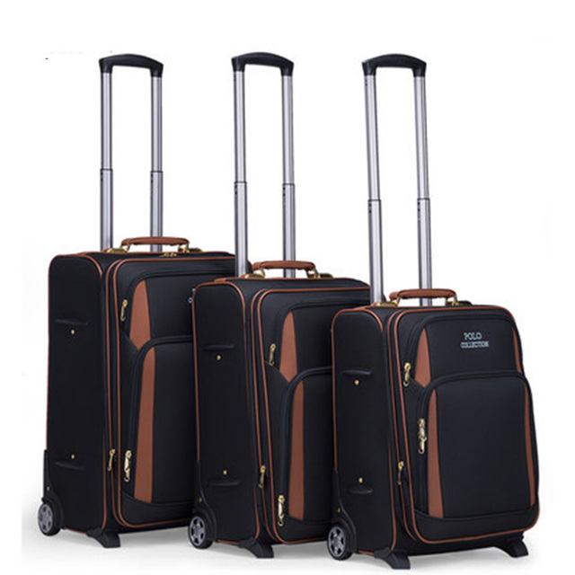 Letrend Multi-functional business Men Rolling Luggage Casters Travel Bag Wheel Suitcase Oxford 20 inch Cabin password Trolley