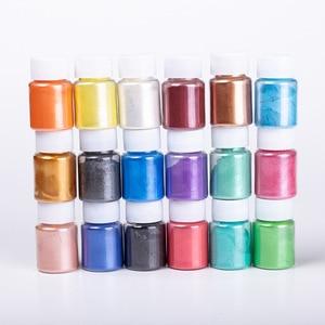 Image 1 - Çocuk oyuncakları DIY balçık kiti Glitter toz dolgu Pigment dekorasyon oyuncakları inci toz boya kabarık balçık aksesuar kız hediye