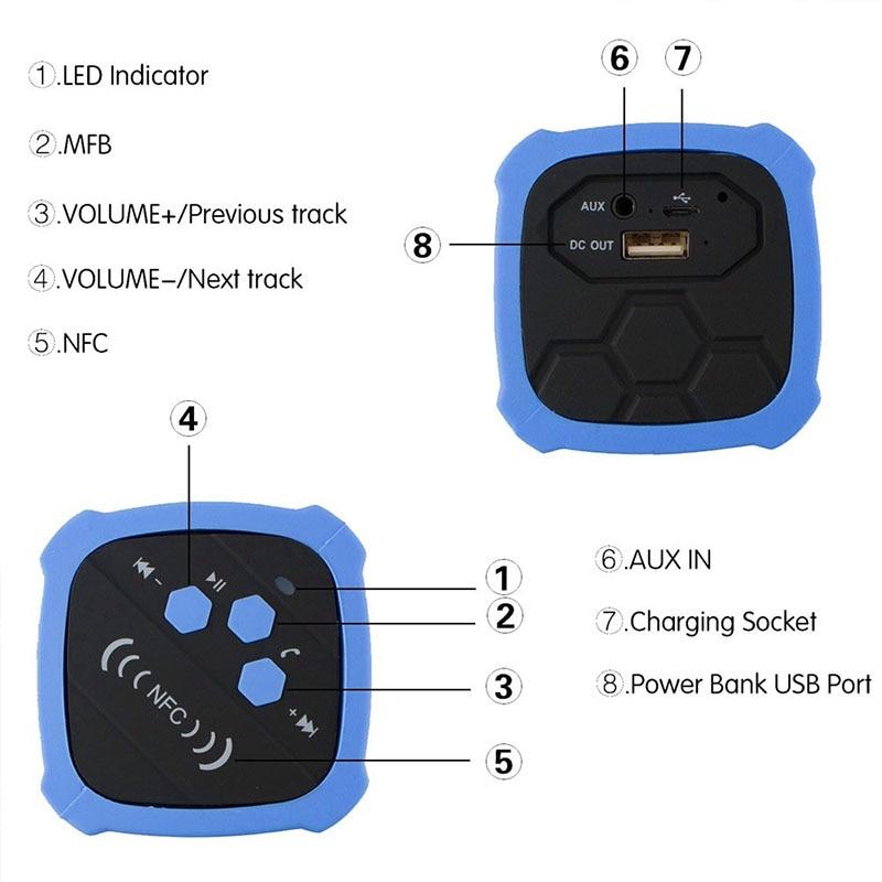 FUU Yeni Dikdörtgen Açık Su Geçirmez Bluetooth Hoparlör Mobil - Taşınabilir Ses ve Görüntü - Fotoğraf 4
