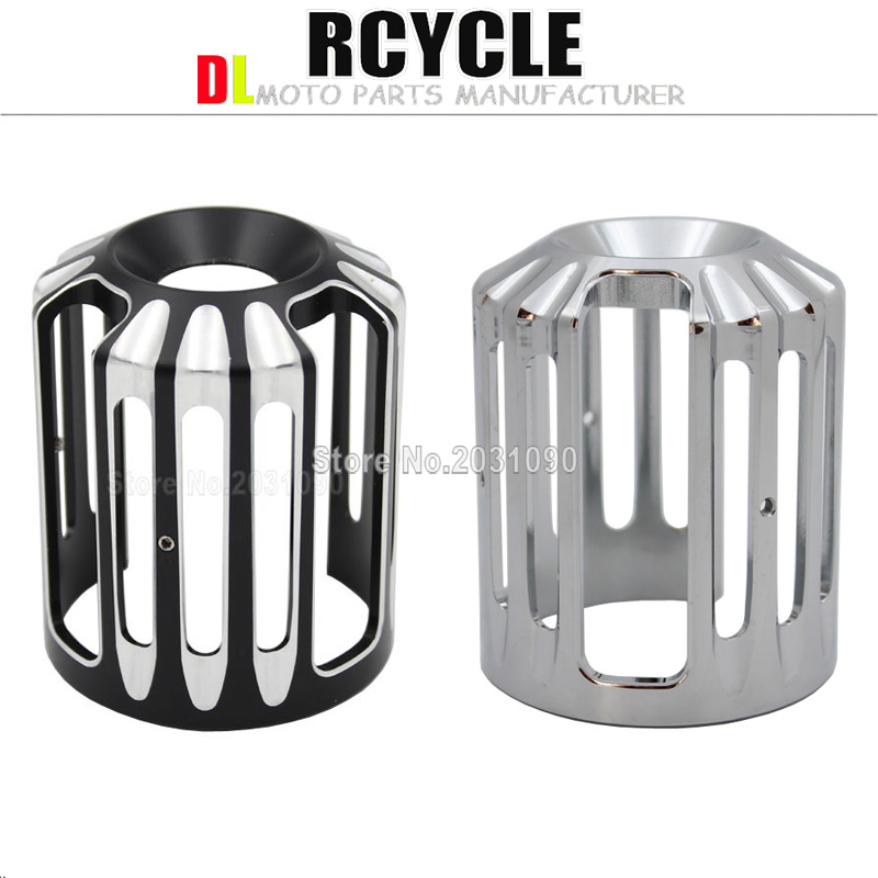 Covers & Ornamental Mouldings Chrome Machine Oil Grid Billet Aluminum Oil Filter Cover For Harley Motorcycles All Models