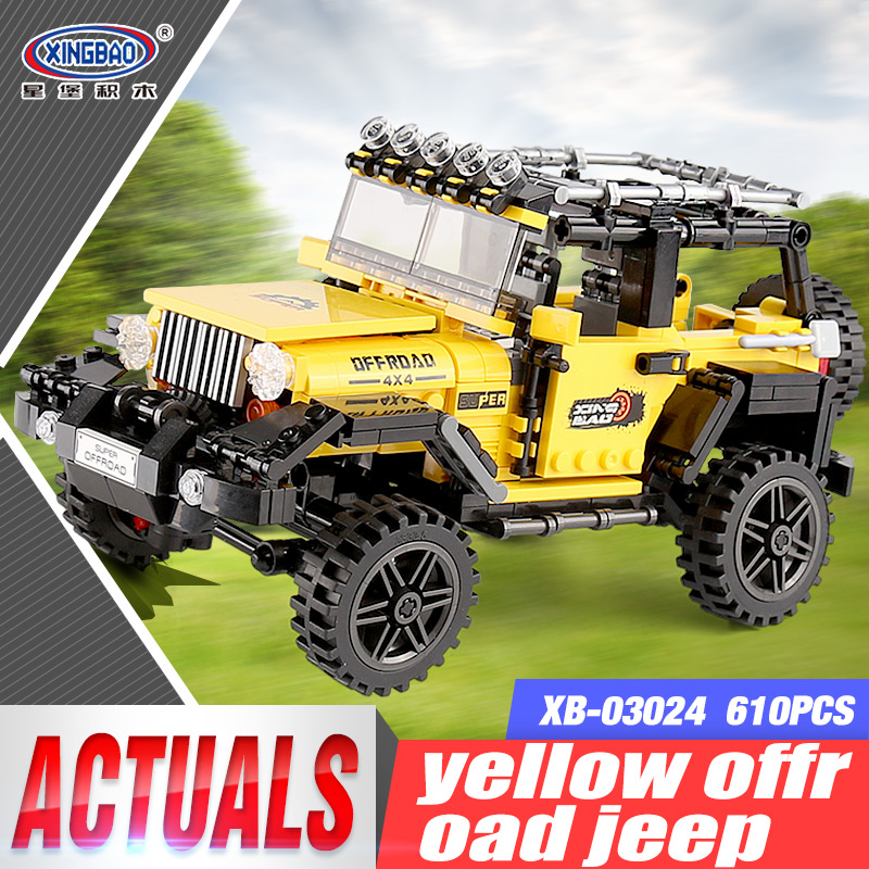 New XingBao 03024 Car Series The Offroad Adventure Set Building Blocks Bricks Toys For Kids Educational Funny Kids Gifts Model