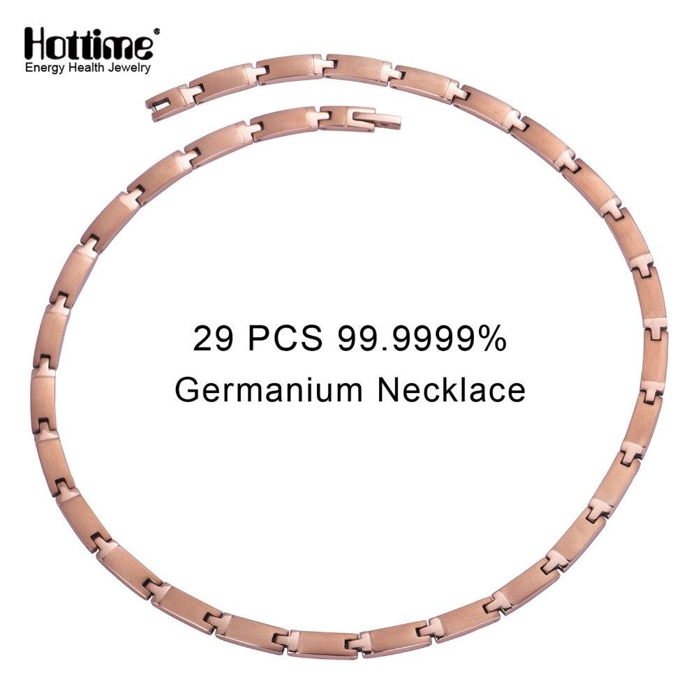 Hottime 29 PCS Plein 99.9999% Germanium Collier Pur Titane Colliers À Réduire La Douleur Cervicale Prévention de cervicale spondylos