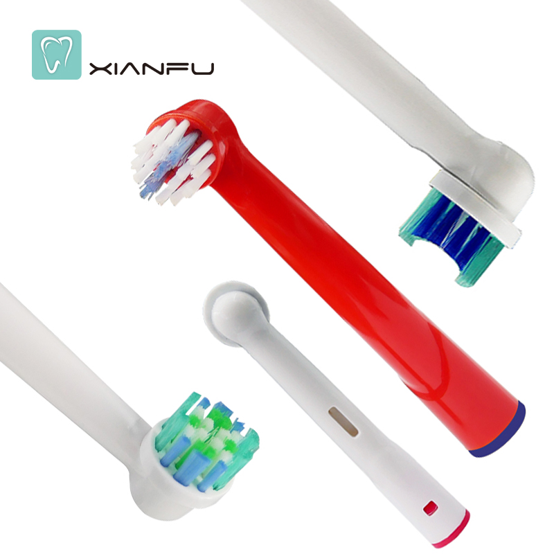 4PCS Electric Tooth Brush Heads Replacement For Oral B Soft Bristle Vitality Dual Clean Professional Care SmartSeries sonicare electric tooth brush heads replacement for braun oral b soft bristle vitality dual clean professional care deep clean