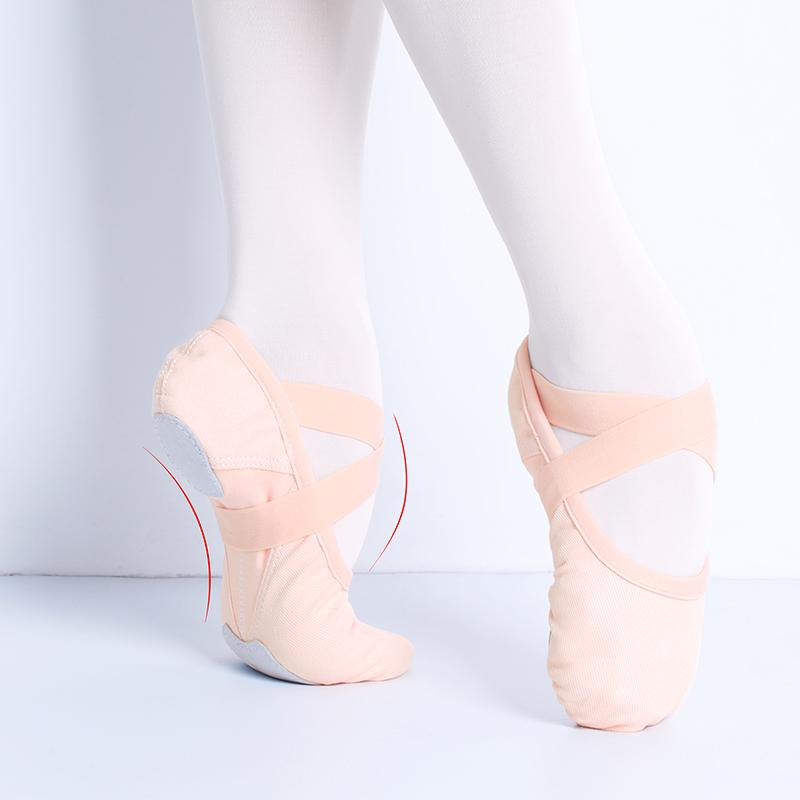 Dance Shoe Single Shoelace Stretch Fabric Ballet Slippers Girls Women Ballerina Ballet Flats Elastic Dance Shoes