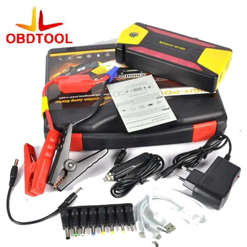 Hot Sale 82800mAh 4USB Jump Starter Emergency Charger Booster Power Bank Battery SOS For Car EU UK AU US Standard Yellow