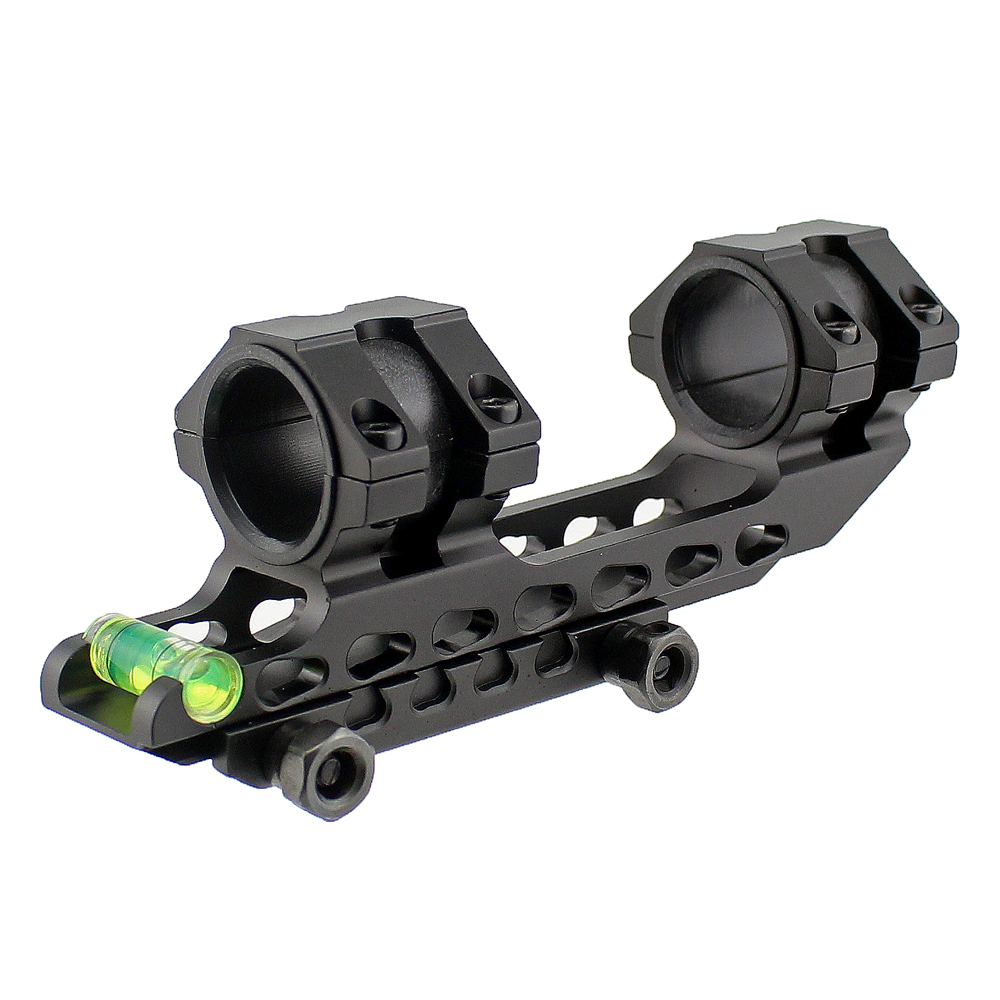 Tactical Scope Mount 25.4 mm 30mm Dual Ring Cantilever Heavy Duty Riflescope Mount with Bubble Level 20mm Rail Base na4910 heavy duty needle roller bearing entity needle bearing with inner ring 4524910 size 50 72 22