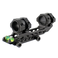 Tactical Scope Mount 25 4 Mm 30mm Dual Ring Cantilever Heavy Duty Riflescope Mount With Bubble