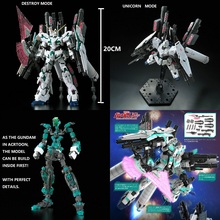 RG 1/144 Gundam Model RX-0 FULL ARMOR UNICORN GUNDAM Japanese Transformation Super Robot Bandai Mobile Suit Kids Toys