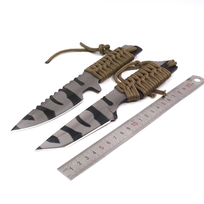 New Brand hunting Stainless Steel Straight knife blade Outdoor Survival Camping Pocket Knife Tactical Knife SDIYABEIZ image