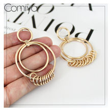 Comiya Drop Anting-Anting Perhiasan Korea Rumbai Akrilik Geometris Rumbai Feminino Menjuntai Anting-Anting Dijual Bijoux Fashion Mujer Brincos(China)