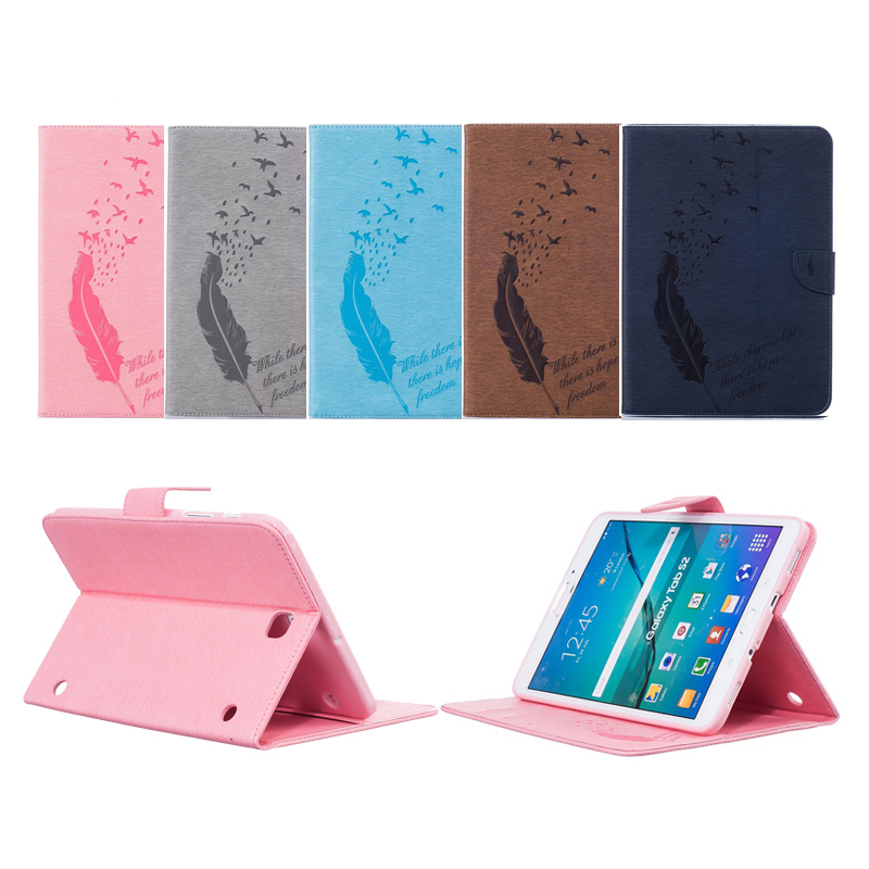 Crazy horse PU Leather Stand Case with Card Slots for Samsung Galaxy Tab A 8.0 T350 T351 T355 sm-t355 P350 8'' Tablet Case 9 inch tablets leather case crazy horse texture case with holder for onda v891w ramos i9s pro