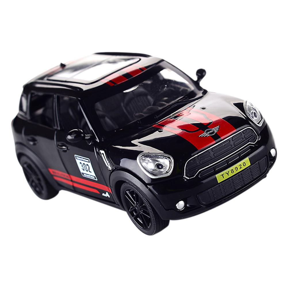 1:32 Scale Diecast Alloy Metal Car Model For MINI Coopers Countryman Model Pull Back Car Toy Vehicles Miniature Scale Model Car
