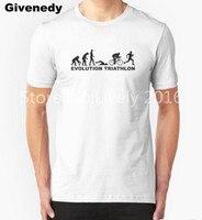 Evolution Triathlon Summer New Design Men T Shirt Running Swimming Cycle Bike Printed Cotton Tee Shirt