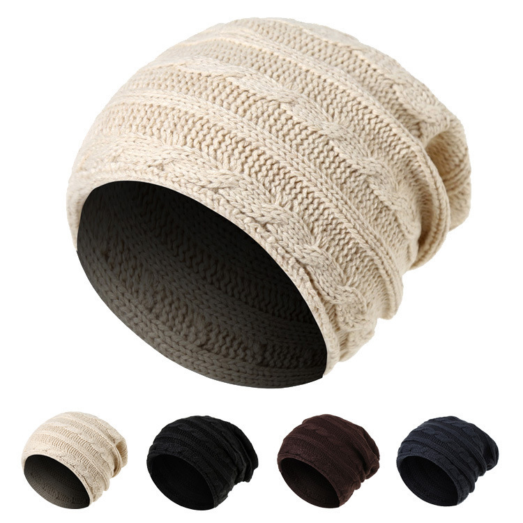 Women man Knit Beanie Autumn Hat Female Winter Caps Hats Crochet Braided Knit Beanies Hat Warm Cap Hat Bonnet Homme Gorro