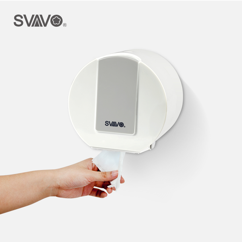 SVAVO Waterproof Household Wall Mounted  Roll Toilet Paper Dispenser ABS Plastic Tissue Box for BathroomSVAVO Waterproof Household Wall Mounted  Roll Toilet Paper Dispenser ABS Plastic Tissue Box for Bathroom