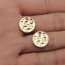 WYSIWYG Wafer Pendant Charms DIY Jewelry Making Jewelry Finding 20pcs KC Gold Color 14x14mm(China)