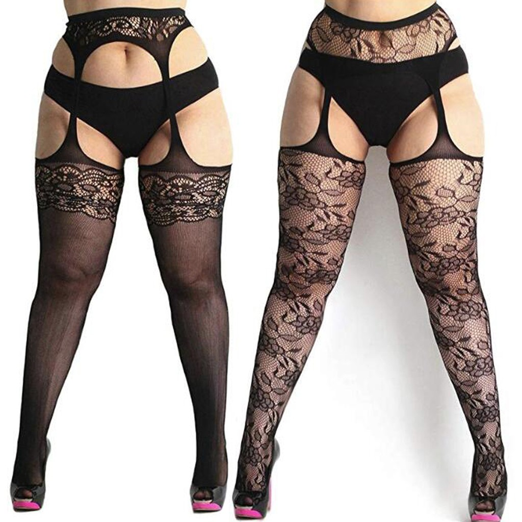 New Sexy Womens Fishnet Tights Plus Size Lace Suspender Pantyhose Stocking X7.18