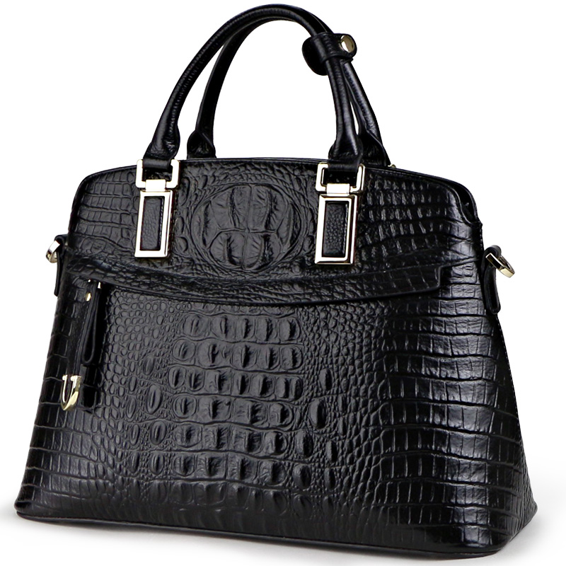 Qiwang Classic Crocodile Women Bag Big Brand Luxury Elegant Top-handle Bags Fashion Women Designer Handbags Female Bag on Sales