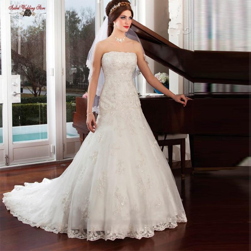 Vintage Strapless Vestido De Novia Wedding Dresses 2015 Hot