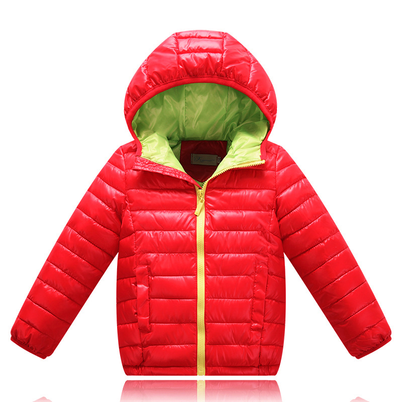 Baby Boys Girls Winter Jacket 2017 Brand Down Hooded Warm Coat Toddler Solid Windproof Outerwear for Kids Boys Clothing 10 11 12 new fashion kids baby girls boys short down jacket solid hooded jacket coat detachable cap coat outerwear for cold winter