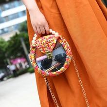 Designer High Qaulity Pearl Crossbody Bags for Women 2019 Mini Minimalist Handmade Chic Clear Purse and Handbags Woven Bag