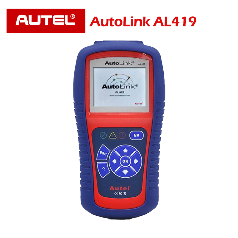 Competent Autel Autolink Al419 One-click I/m Haalt Generieke Mil Wist Codes Reset Monitoren Obdii Eobd Can Code Reader Scanner Obd2
