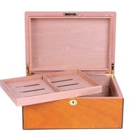 Factory wholesale Cohiba cigar humidor box for 100ct cigars GOLDEN YELLOW VENNER
